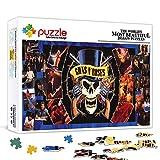 Rompecabezas para adultos 300 piezas Guns N 'Roses Famoso cantante Juego educativo de madera para niños Divertido juego de rompecabezas con personajes de estrellas de la música 38x26cm