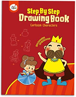 JarMelo Cartoon Characters Step by Step Drawing Book