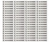 Stifteaufkleber für Bleistifte, Kugelschreiber & weiteres Namensaufkleber Namen Sticker Aufkleber 49x7,5mm | 72 Stück Kinder & Erwachsene Schule & Kindergarten 37 Hintergründe Zebra