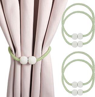 N-B - Fermatenda magnetici, fermatenda, fermatenda, anelli per tende, accessori per tende e tende, per casa, ufficio, rist...