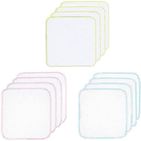 ガーゼハンカチ ガーゼタオル 無地 ベビービブ- ダブルガーゼハンカチ 綿100% 30*30㎝ 12枚(カラー1)