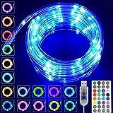 LED Lichtschlauch 10M USB Wasserdicht Bunt Lichterschlauch,LED Schlauch,16 Farben 4 Modi LED Lichterkette Außen Dekoration für Garten,Trampolin,Balkon,Weihnachten,Hochzeit,Party