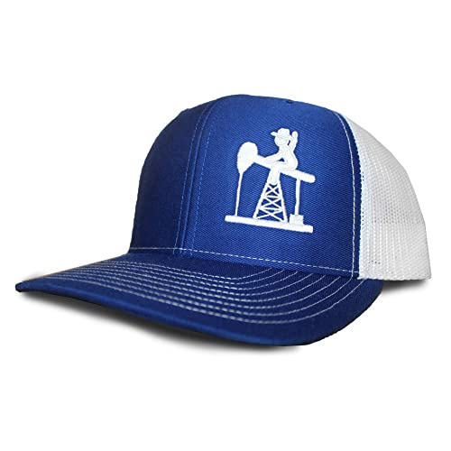finest selection c22cd e802b Oil Field Hats Royal Blue White PJ Cowboy Cap - FT1808