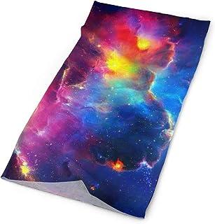 RTBB Sciarpa testa Wrap Rainbow Nebula Galaxy One Side Print Sunproof Caldo Collo Ghetta Passamontagna per il freddo sport...