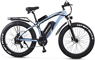 GUNAI Elektriska off-road cyklar feta cyklar 26 tum 4,0 däck E-cykel 1000 W 48 V elektrisk mountainbike med baksäte