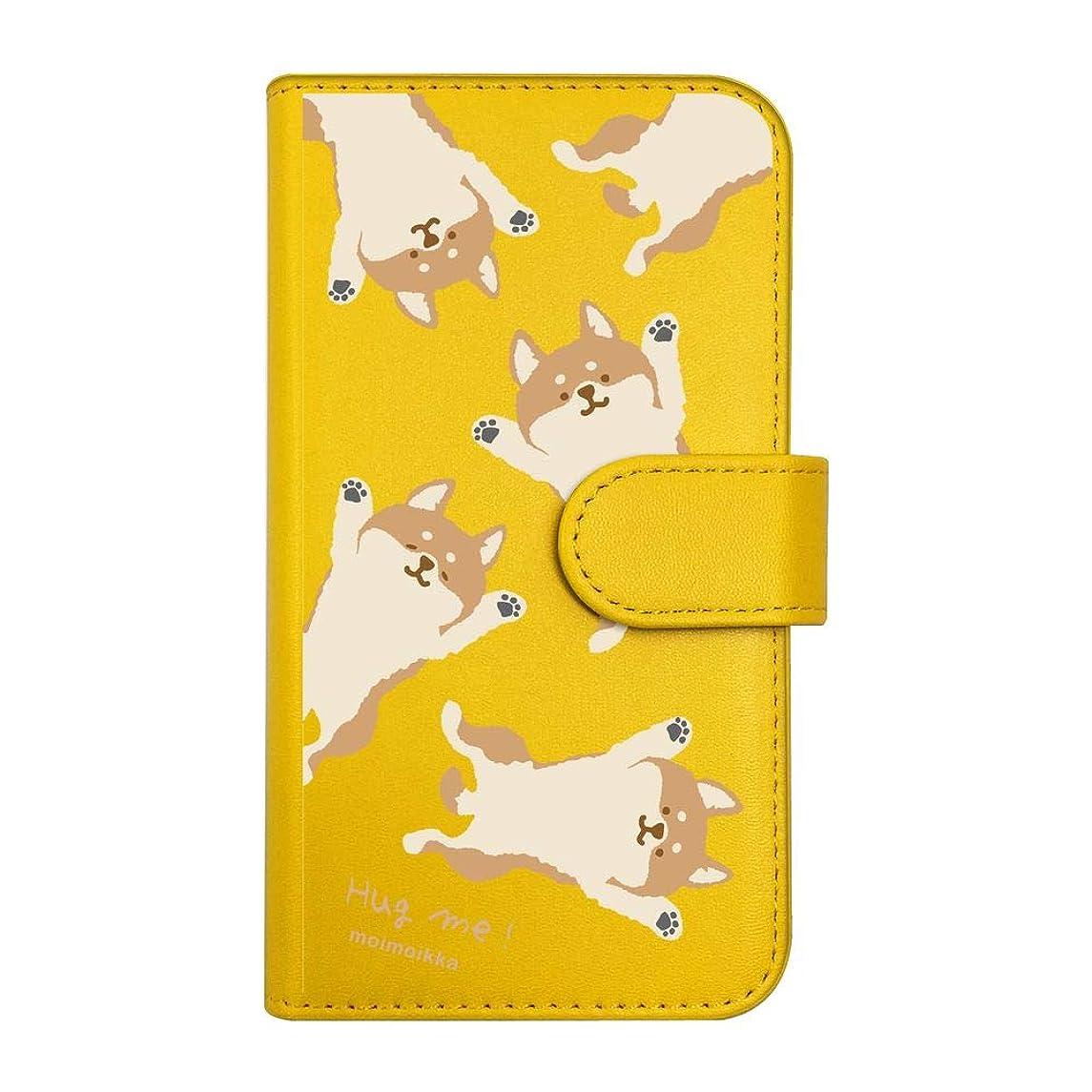 ベール禁じる万一に備えて【moimoikka】 iPodTouch5 アイポッドタッチ5 手帳型 スマホ ケース hug me 柴犬(総柄) しば 犬 アニマル 動物 キャラクター おしゃれ かわいい (カバー色イエロー) ダイアリータイプ 横開き カード収納 フリップ カバー スマートフォン モイモイッカ sslink