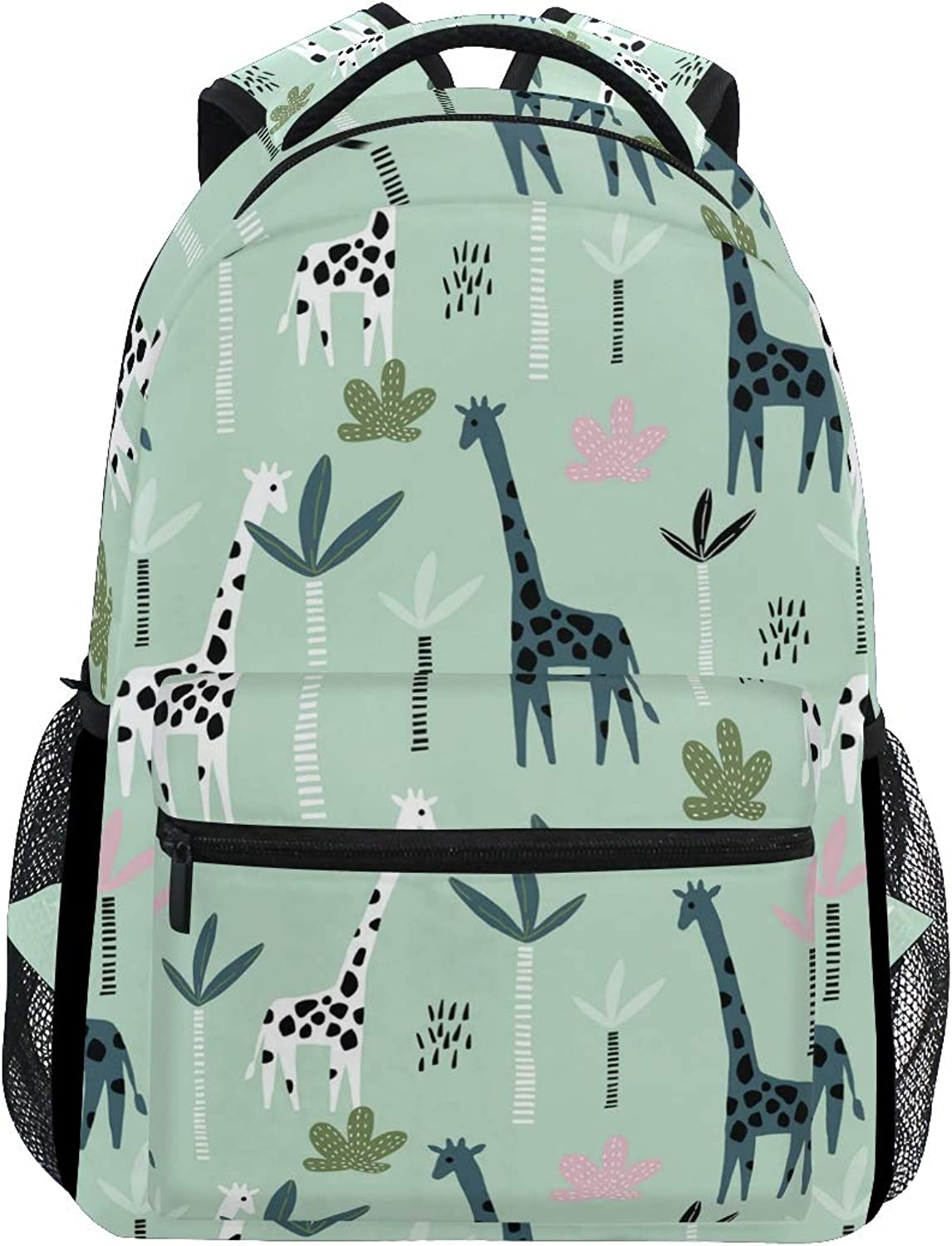 bluee Fresh Giraffe Decorations Large Backpack Travel Outdoor Sports Laptop Backpack for Women & Men College School Water Resistant