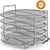 Goldlion Dehydrator Rack Stainless Steel Stand Accessories Compatible with Ninja Foodi Pressure Cooker and Air Fryer 6.5 and 8 Quart, Instant Pot Air Fryer 8 Qt