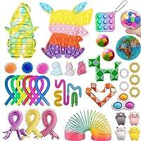 子供のための感覚的なそわそわおもちゃセットボックス、39パック、そわそわパックおもちゃ、不安大人のためのストレス緩和そわそわおもちゃパックADHD子供 (マルチカラー6, 39Pcs)