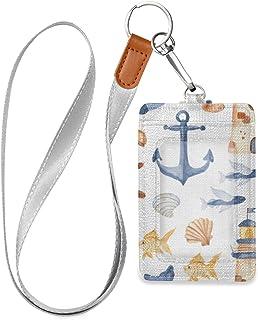 Anchor badge holder Fisherman lanyard ANCHOR fabric badge holder Fisherman badge holder Anchor lanyard