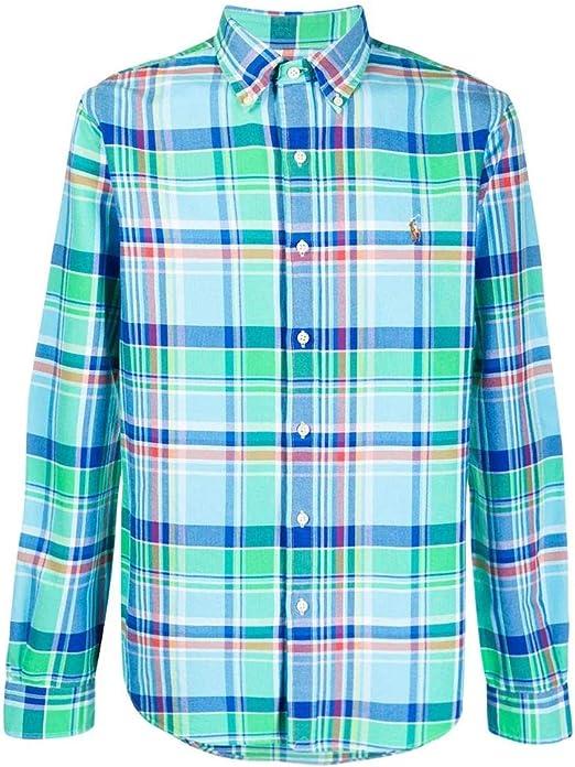 Ralph Lauren Camisa Oxford Estampado Cuadros - Color - Verde ...