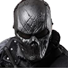 Skull Airsoft Wire Masks Full Face Paintball Mask with Metal Mesh Eye Protection for BB Gun/CS Game/Tactical Outdoor Ghost Mask Men&Women - Scary Skeleton Zombie Mask for Guy Fawkes Halloween Cosplay