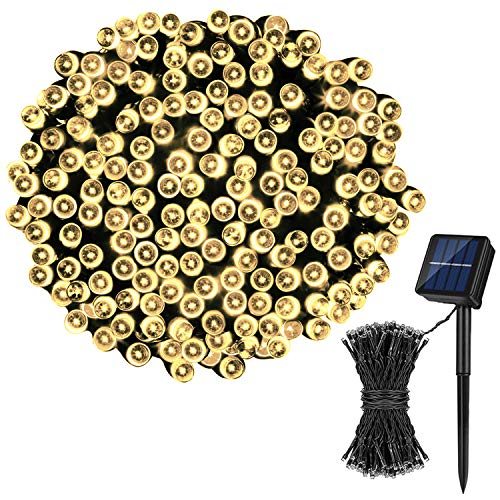 Koxly Solar String Lights,72FT 200 LED 8 Modes Solar Powered Christmas Lights Outdoor String Lights Waterproof Fairy Lights for Garden, Party, Wedding, Xmas Tree