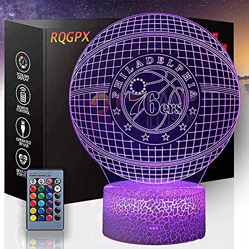 Lámpara de ilusión 3D Dragón Anime Gaming Dog para los amantes del baloncesto K niños luz de la noche para niños Niñas mesa lámpara de escritorio 16 cambio de color decoración lámpara