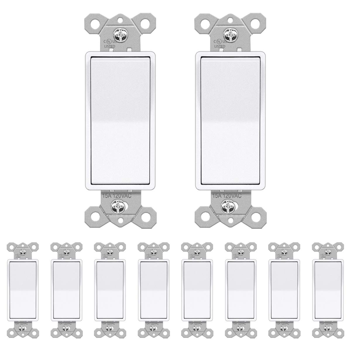 10 Pack BESTTEN Credence Single-Pole Snow Daily bargain sale Sw Wall Light Decorator White