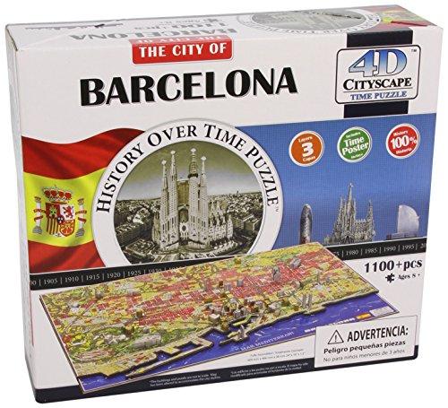 Eleven Force - Puzzle 4D Ciudades, diseño Barcelona (00500)- Puzzle Barcelona, Multicolor