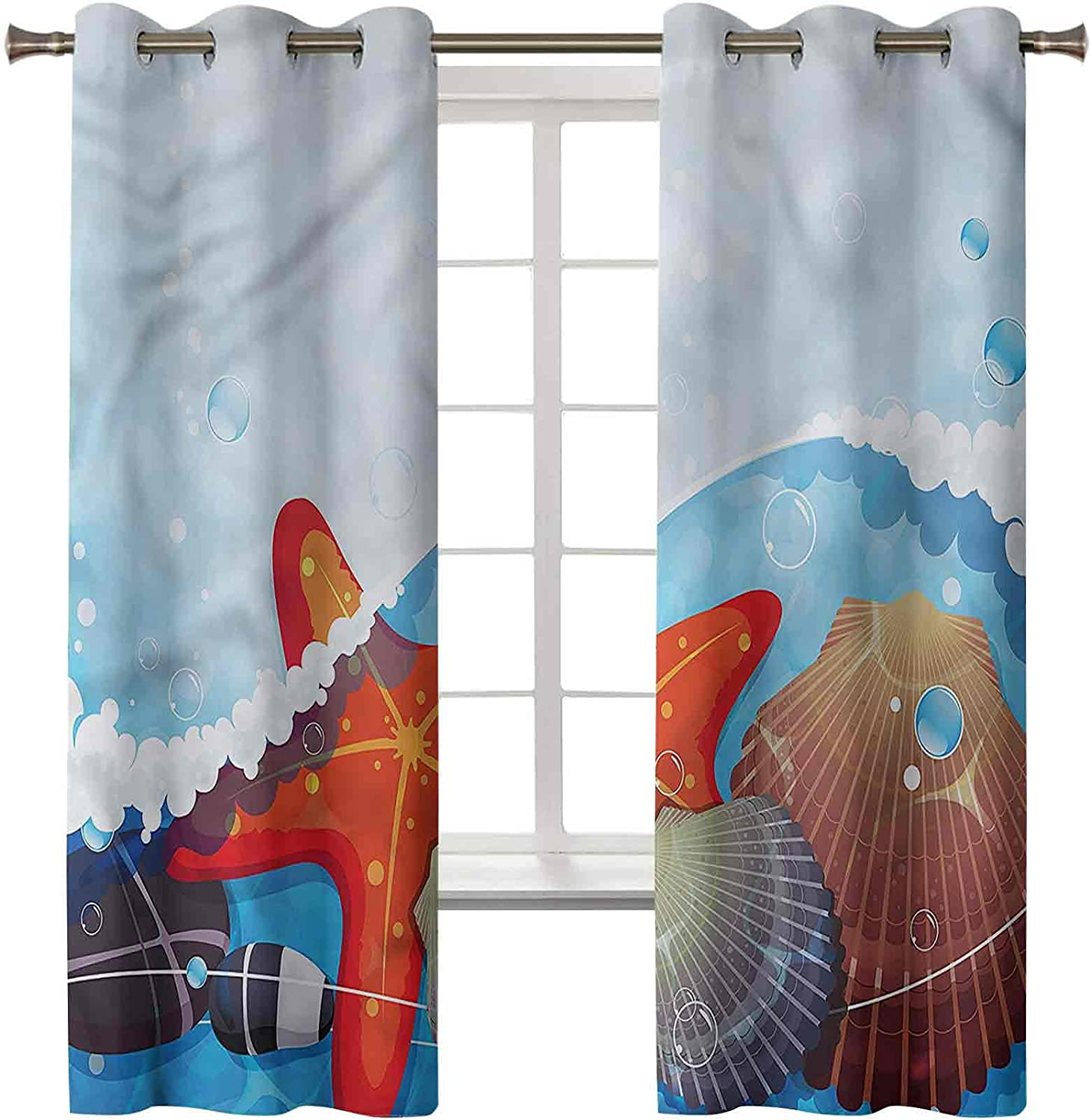 3D Printed Blackout OFFicial Curtains Thermal Max 74% OFF Insulated Noise Red Drapes
