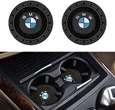 Soondar 2Pcs Car Interior Anti Slip Cup Mat for BMW 1 3 5 7 Series F30 F35 320li 316i X1 X3 X4 X5 X6 (2.75