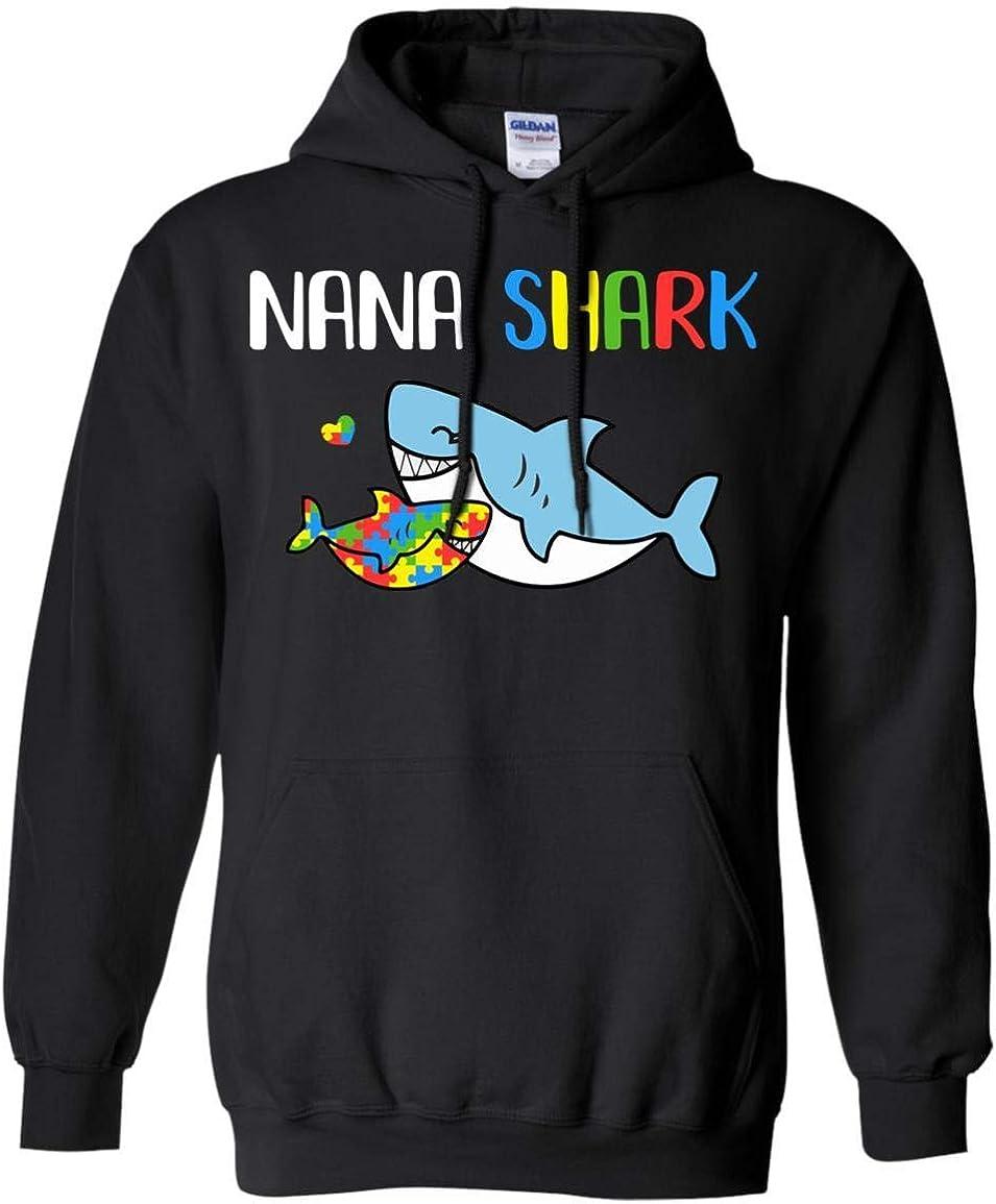 TeesPass Nana Shark Support Autism Shir for Grandchild Safety Department store and trust Awareness