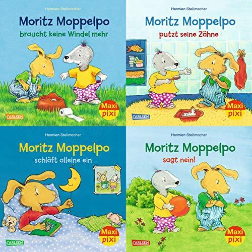 Maxi-Pixi-4er-Set 71: Moritz Moppelpo (4x1 Exemplar) (71)