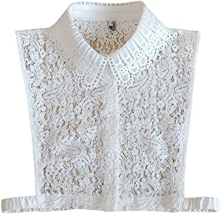 Newvision1981 Collar Lace Clothing Accessory Detachable Blouse Stylish Decor False Collar White