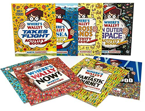 Where's Wally (Waldo) Amazing Adventures and Activities 8 Books Bag Collection Set ( Where's Wally, Now?,The Fantastic Journey, In Hollywood, In Outer Space, At Sea, Across Lands & Takes Flight)