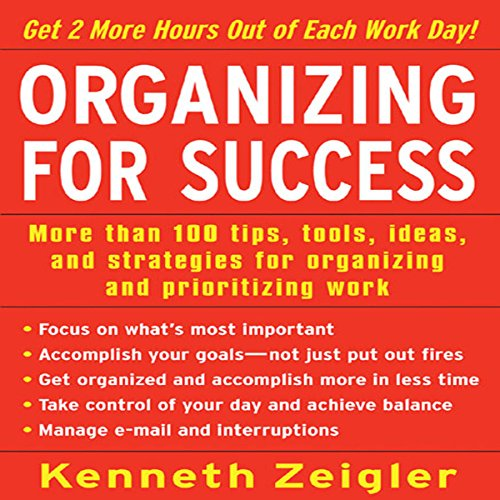 Organizing for Success audiobook cover art