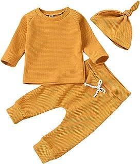 Ensemble de pyjama 3 pièces pour nouveau-né garçon et fille de 0 à 24 mois