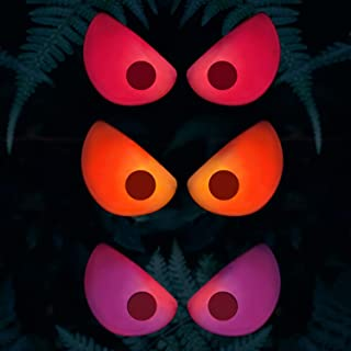 Rocinha Halloween Flashing Eyes Lights, 3 Pack Flashing Lights with Red Orange Purple, Halloween Decoration for Indoor, Ou...