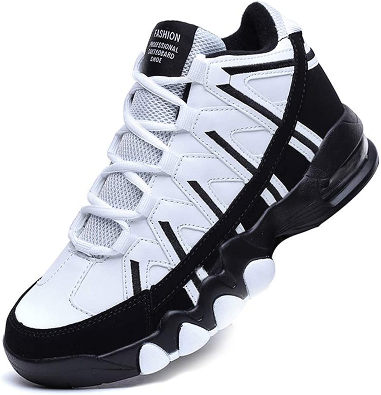 ZHRUI Men Casual shoes Breathable High Top Sport Soft Footwear Adult Unisex Sneakers (color   1white, Size   6.5=40 EU)