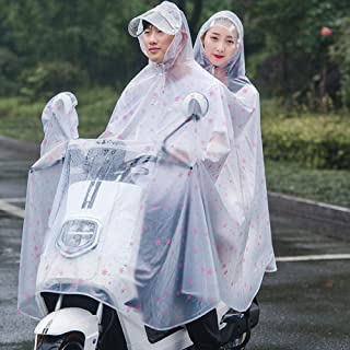 FDSAD Waterproof Raincoat Poncho Battery Electric Car Fashion Transparent Conjoined Pvc Adult Motorcycle Bike Poncho Doubl...