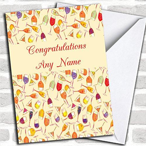 Glazen wijn op maat Gefeliciteerd wenskaart- Verjaardagskaarten/Grappige & Spoof Verjaardagskaarten