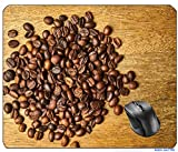 AVENTN Coffee Core Seed Kernels Table Good Morning Nutrition Morning Brown Wake Food graphy Wood Espresso Food Cappuccino Caffeine Macro Mouse pad 8.7' x 7.08' inch