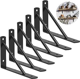 DILNAZ ART Shelf Brackets 10 Inch Heavy Duty Metal Shelf Holders, Industrial Rustic Farmhouse Iron Floating Shelf Bracket ...