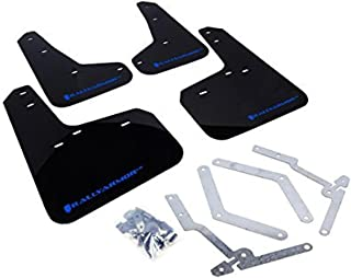 Rally Armor MF27-UR-BLK/BL Black, Blue Mud Flap with Logo (13+ Ford Focus ST)