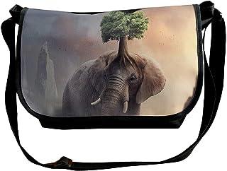 Fantasy - Bolso bandolera para hombre y mujer, diseño de elefante
