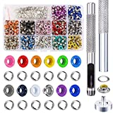 NACTECH 540 Set Occhielli in Metallo 5mm 12 Colori Grommet Occhielli Colorati per Scarpe V...