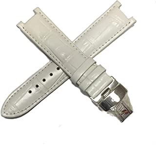 20MM Alligator Grain Real Leather Watch Strap 7.5