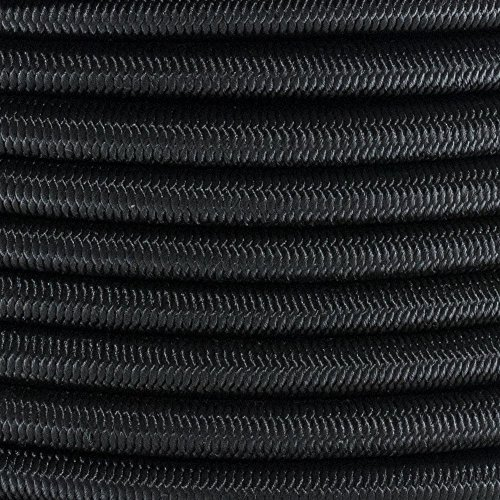 PARACORD PLANET 3/8 Inch Elastic Bungee Nylon Shock Cord Stretch String Crafting – Various Colors – 10, 25, 50 & 100 Foot Lengths – Made In USA