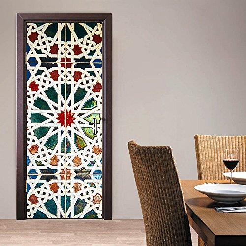 Rocwart Vinilo decorativo para puerta 3D para sala de estar, niños, bebés, niños, vinilo extraíble, sexy, para mujer, decoración del hogar, 30.3 x 78.7 (M015)