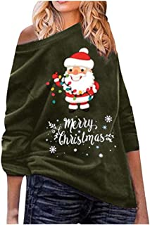 Rosennie Women Christmas Pure Color Maternity Button Reindeer Print Shirt Long Sleeve Top T Shirt for Pregnant Clothes