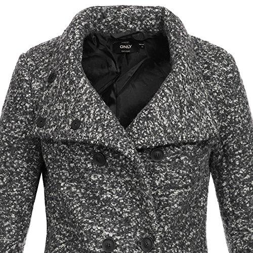 Only Onlsophia Noma Wool Coat Cc Otw Noos, Giubbotto Donna, Grigio (Dark Grey Melange), 42 (Taglia Produttore: X-Large)