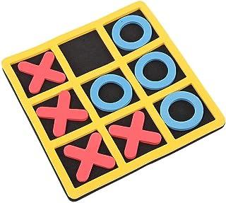Alomejor Juego de Mesa Tic TAC Toe Travel Juego de Mesa Tic Bug Toe Juguete Educativo para niños de Todas Las Edades Juego de Viaje X y O