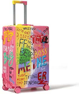Trolley Case - Personalized PC Trolley Case/Large Capacity Graffiti Travel Trolley Case/Waterproof Luggage / 31 Inch / 66 * 25 * 41 cm Well Made