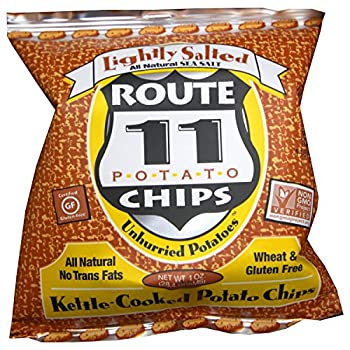 Route 11 Potato Chips  Lightly Salted  30 bags  1 oz each