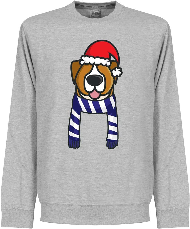Retake Christmas Dog Supporters Sweatshirt (Grey bluee White)  XXXL