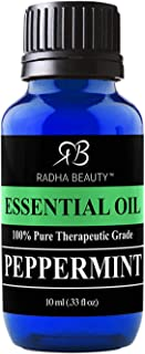 Sponsored Ad - Radha Beauty Peppermint Essential Oil 10ml - 100% Pure & Therapeutic Grade, Steam Distilled for Aromatherap...