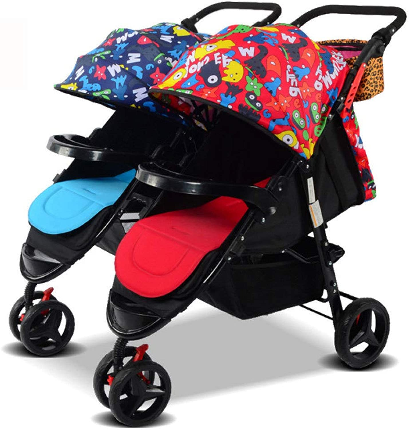 RAQ Baby strollers twins Carbon steel ultralightweight folding can sit can lie high landscape umbrella baby trolley (color   G)
