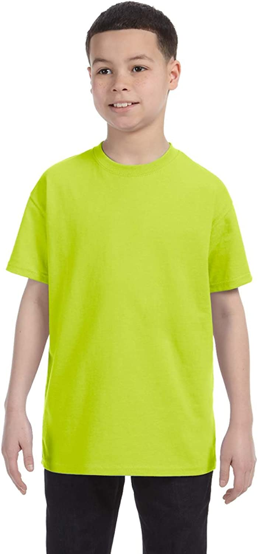 By Gildan Youth 53 Oz T-Shirt - Safety Green - XL - (Style # G500B - Original Label)