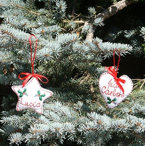 PRIMERAEDAD/Adorno de Navidad personalizado con tu nombre(el precio es por unidad)